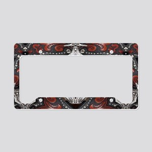 western leather rustic cowboy License Plate Holder