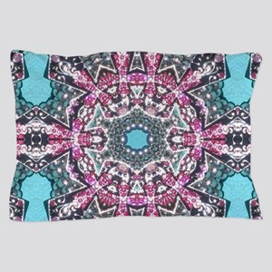 cute girly pink turquoise cowgirl Pillow Case