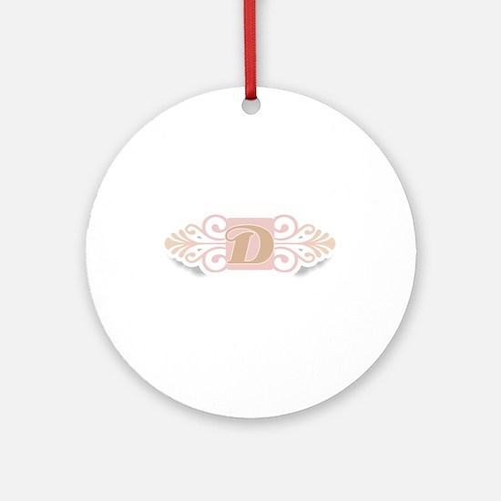 Monogram D Ornament (Round)