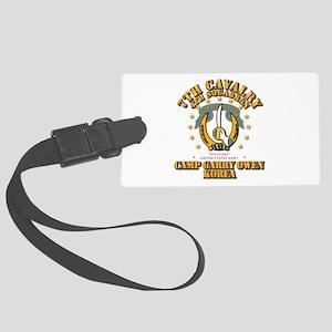 4/7 Cav - Camp Gary Owen Korea Large Luggage Tag