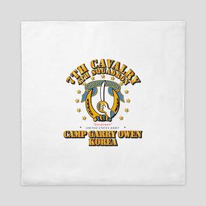 4/7 Cav - Camp Gary Owen Korea Queen Duvet