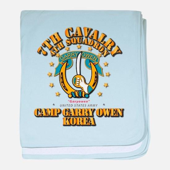4/7 Cav - Camp Gary Owen Korea baby blanket