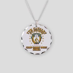 4/7 Cav - Camp Gary Owen Kor Necklace Circle Charm