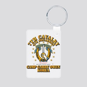 4/7 Cav - Camp Gary Owen K Aluminum Photo Keychain