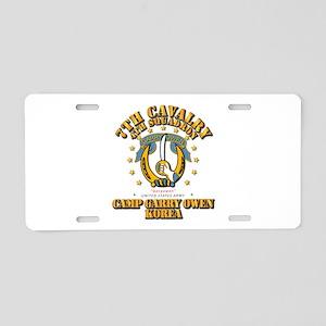 4/7 Cav - Camp Gary Owen Ko Aluminum License Plate