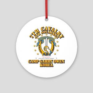 4/7 Cav - Camp Gary Owen Korea Round Ornament