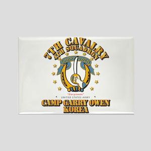 4/7 Cav - Camp Gary Owen Korea Rectangle Magnet