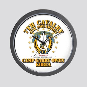 4/7 Cav - Camp Gary Owen Korea Wall Clock