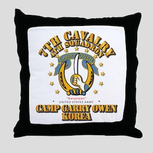 4/7 Cav - Camp Gary Owen Korea Throw Pillow