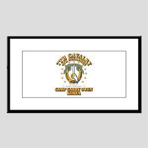 4/7 Cav - Camp Gary Owen Korea Small Framed Print
