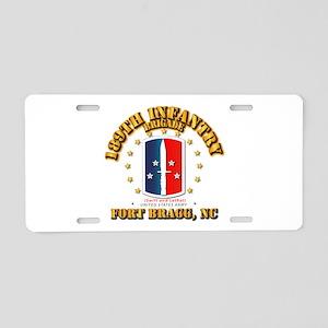 189th Infantry Brigade Aluminum License Plate