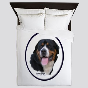 Greater Swiss Mtn Dog Queen Duvet