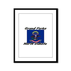 Grand Forks North Dakota Framed Panel Print