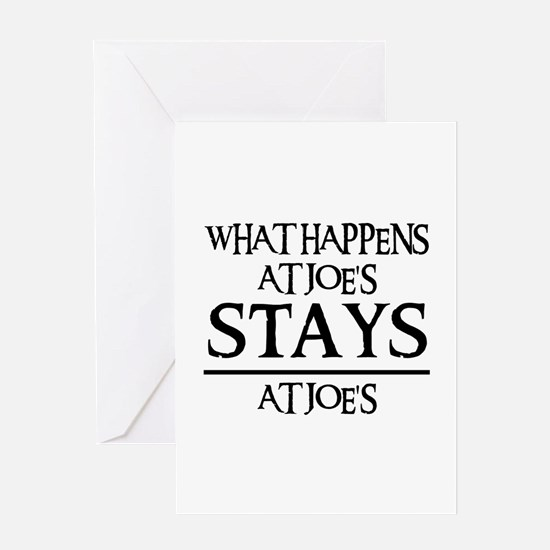 STAYS AT JOE'S Greeting Card