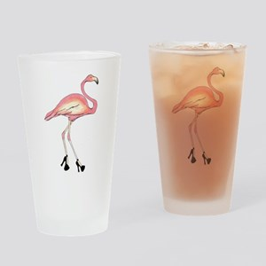 Flamingo Drinking Glass