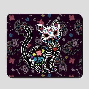 Dia de los Gatos Pattern Mousepad