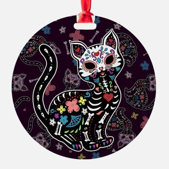 Dia de los Gatos Pattern Ornament