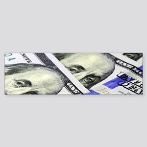 US Currency One Hundred Dollar Bill Bumper Sticker