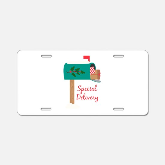 Special Delivery Aluminum License Plate