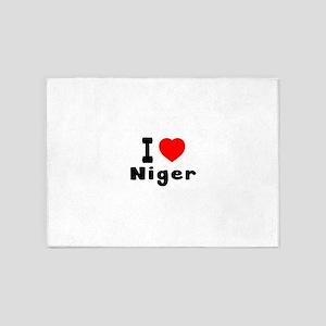 I Love Niger 5'x7'Area Rug