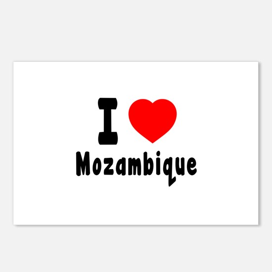 I Love Mozambique Postcards (Package of 8)