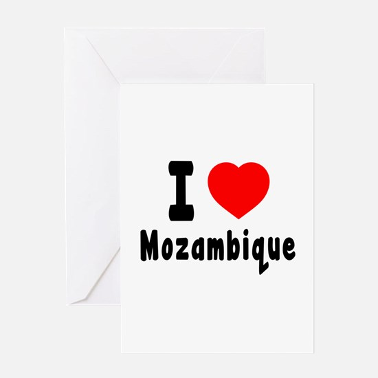 I Love Mozambique Greeting Card