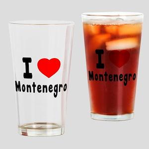 I Love Montenegro Drinking Glass
