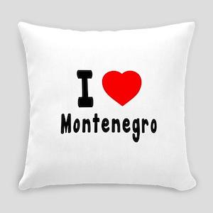 I Love Montenegro Everyday Pillow