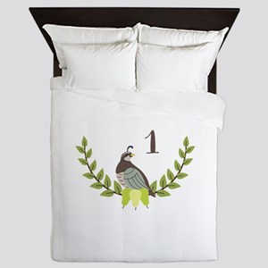 Partridge Pear Tree Queen Duvet