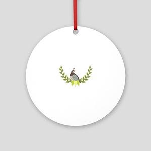 Christmas Partridge Round Ornament