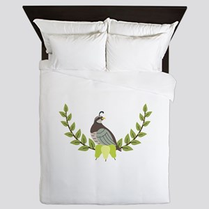Christmas Partridge Queen Duvet