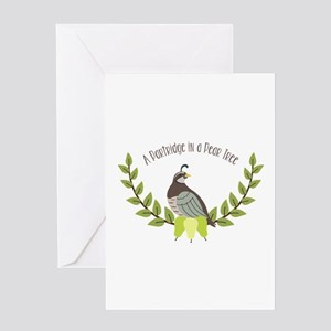 Partridge In Pear Tree Greeting Cards