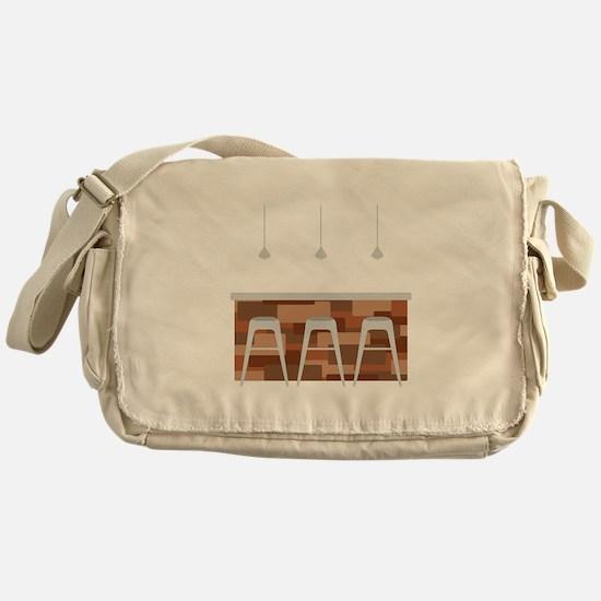Bar Stools Messenger Bag