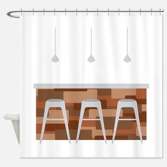 Bar Stools Shower Curtain