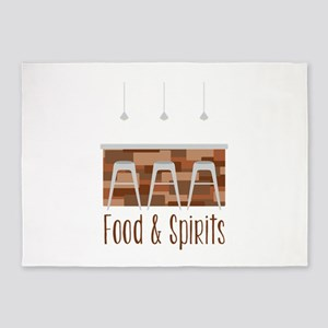 Food & Spirits 5'x7'Area Rug