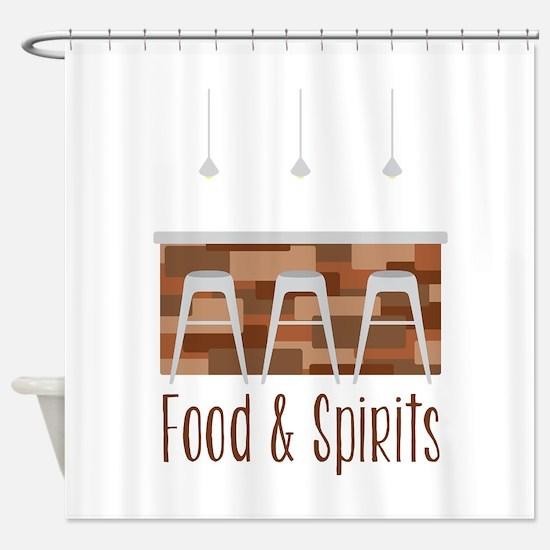 Food & Spirits Shower Curtain