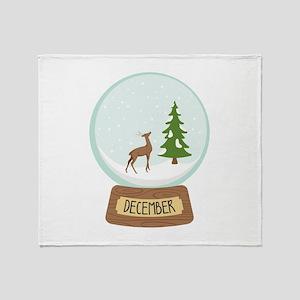 December Globe Throw Blanket