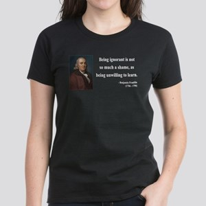 Benjamin Franklin 9 Women's Dark T-Shirt