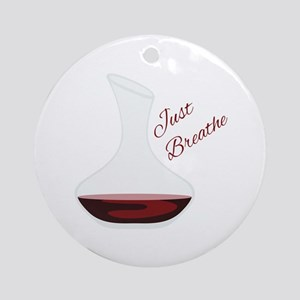 Just Breathe Round Ornament