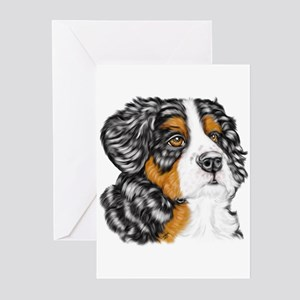 Bernese Mountain Dog Pup Greeting Cards (Package o