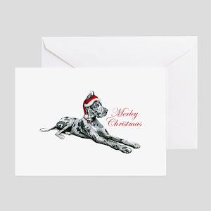 Great Dane Merley Christmas Greeting Card