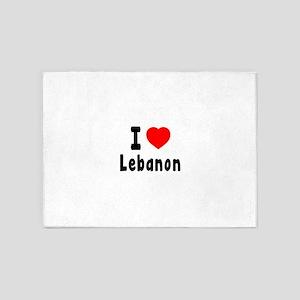 I Love Lebanon 5'x7'Area Rug