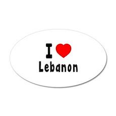 I Love Lebanon Wall Decal