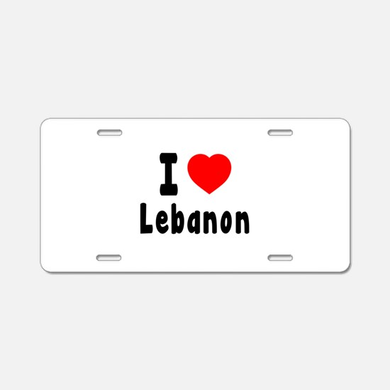 I Love Lebanon Aluminum License Plate