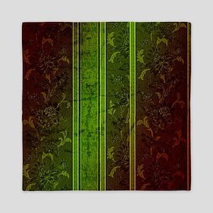 Green vintage design Queen Duvet