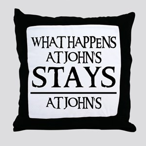 STAYS AT JOHN'S Throw Pillow