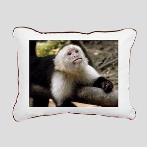 Baby Capuchin Monkey Rectangular Canvas Pillow