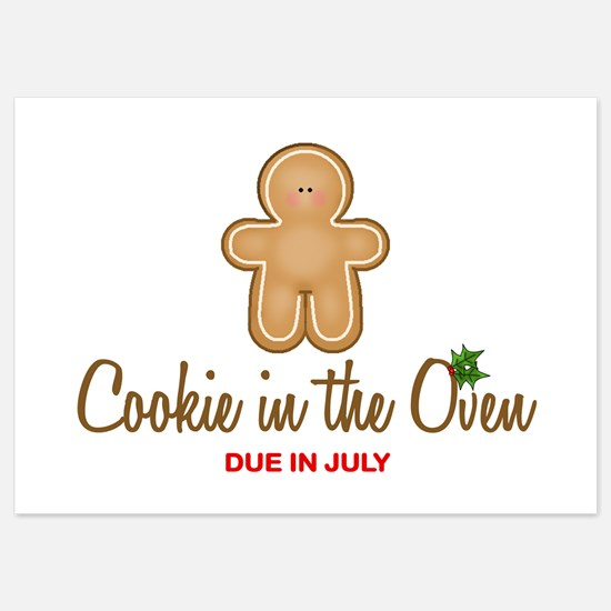 Cookie Due July Invitations