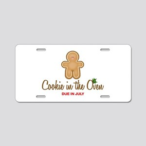 Cookie Due July Aluminum License Plate