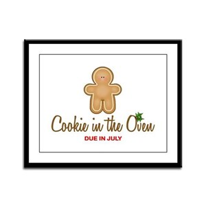 Cookie Due July Framed Panel Print